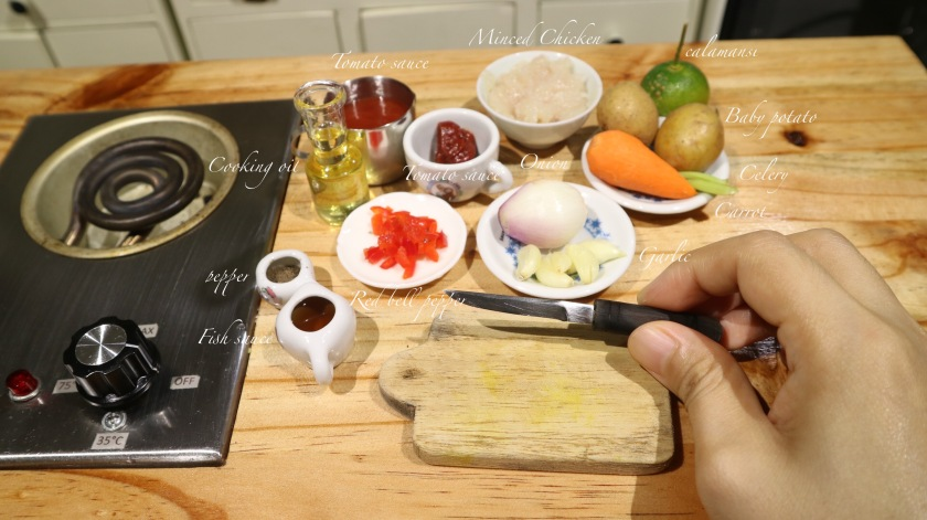 chicken giniling ingredients