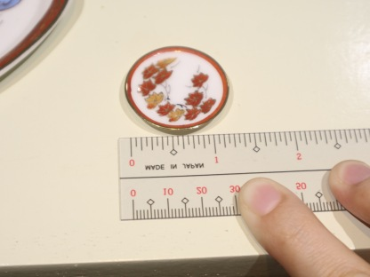 teaset plate size